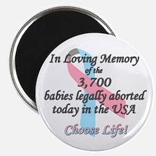 Pro Life Ribbon Anti-Abortion Magnet