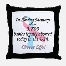 Pro Life Ribbon Anti-Abortion Throw Pillow