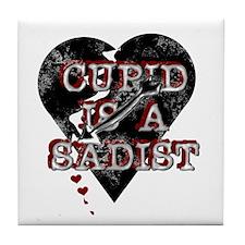 Cupid is a Sadist Tile Coaster