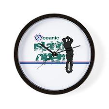 Oceanic Island Open Wall Clock