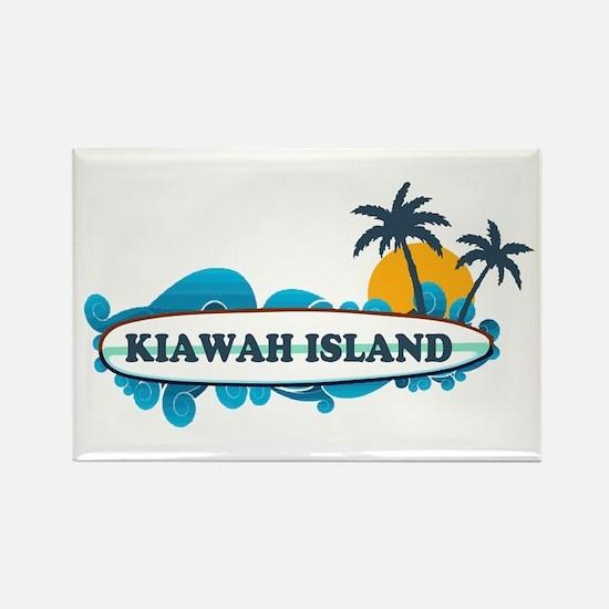 Kiawah Island SC - Surf Design Rectangle Magnet
