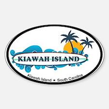 Kiawah Island SC - Surf Design Sticker (Oval)