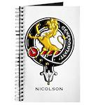 Nicolson Clan Crest Badge Journal