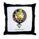 Nicolson Clan Crest Badge Throw Pillow