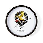 Nicolson Clan Crest Badge Wall Clock