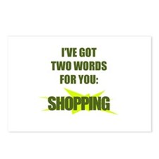 Two words : Shopping! Postcards (Package of 8)