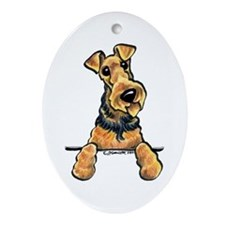 Airedale Terrier Lover Ornament (Oval)