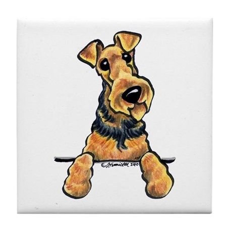 Airedale Terrier Lover Tile Coaster