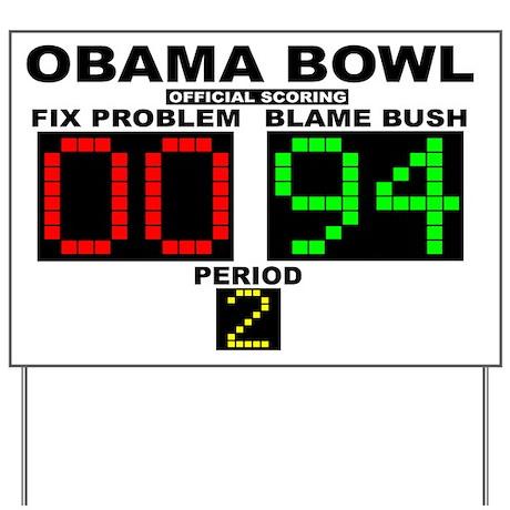 Obama Bowl Yard Sign