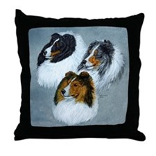 Sheltie Face Throw Pillow