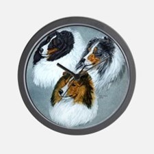 Sheltie Face Wall Clock