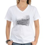 Tailing Drum Women's V-Neck T-Shirt