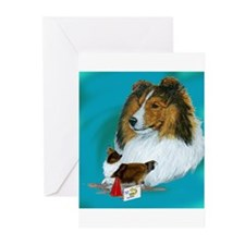 sheltie rally Greeting Cards (Pk of 20)