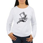 Mad Hatter Striding Right Women's Long Sleeve T-Sh