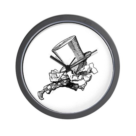 Mad Hatter Striding Right Wall Clock