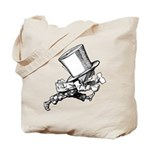 Mad Hatter Striding Right Tote Bag