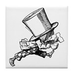Mad Hatter Striding Right Tile Coaster