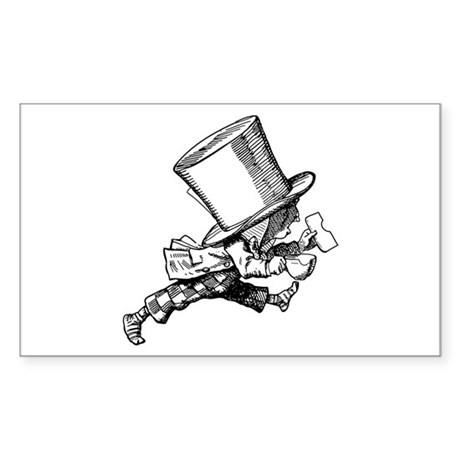 Mad Hatter Striding Right Sticker (Rectangle)