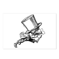 Mad Hatter Striding Right Postcards (Package of 8)