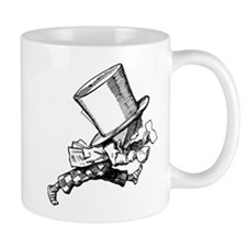 Mad Hatter Striding Right Small Mugs