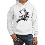 Mad Hatter Striding Right Hooded Sweatshirt