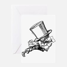 Mad Hatter Striding Right Greeting Card