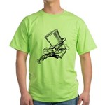 Mad Hatter Striding Right Green T-Shirt