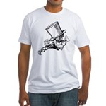 Mad Hatter Striding Right Fitted T-Shirt