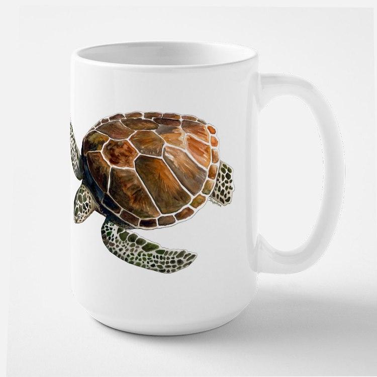 Green Turtle Large Mug