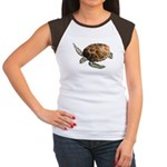 Green Turtle Women's Cap Sleeve T-Shirt