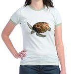Green Turtle Jr. Ringer T-Shirt