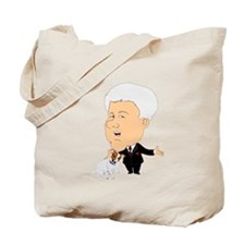 Clinton Petting A Jack Russel Tote Bag