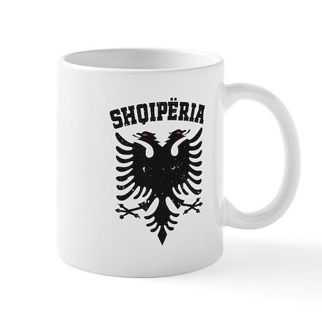 Albania Black Distressed Mug