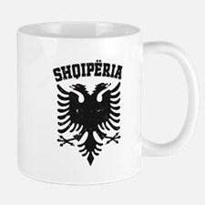 Albania Black Distressed Mug