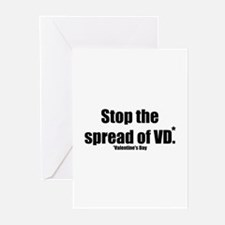 Stop VD Anti Valentines Day Greeting Cards (Packag