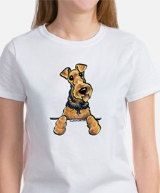 Welsh Terrier Paws Up Women's T-Shirt