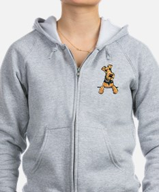 Welsh Terrier Paws Up Zip Hoodie