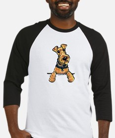 Welsh Terrier Paws Up Baseball Jersey