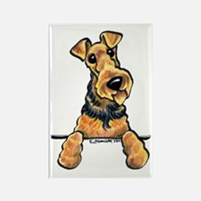 Welsh Terrier Paws Up Rectangle Magnet (10 pack)
