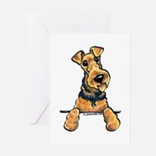 Welsh Terrier Paws Up Greeting Cards (Pk of 10)