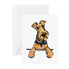 Welsh Terrier Paws Up Greeting Cards (Pk of 20)