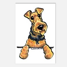 Welsh Terrier Paws Up Postcards (Package of 8)