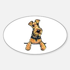 Welsh Terrier Paws Up Sticker (Oval)