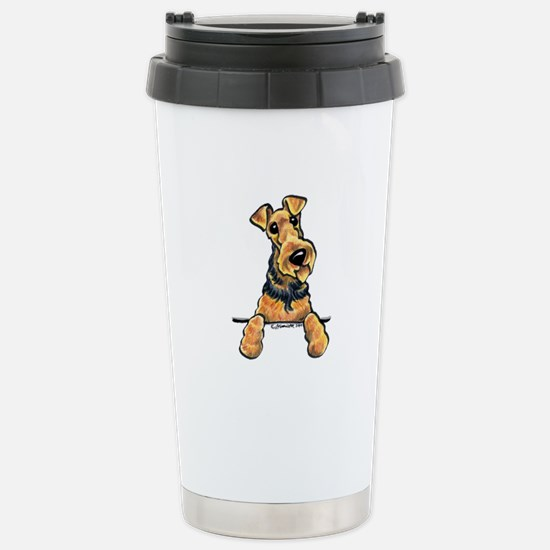 Welsh Terrier Paws Up Stainless Steel Travel Mug