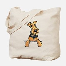 Welsh Terrier Paws Up Tote Bag