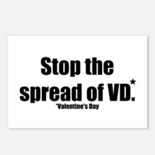 Stop VD Anti Valentines Day Postcards (Package of