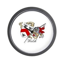 Walsh Coat of Arms Wall Clock