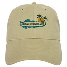Hilton Head Island SC - Surf Design Baseball Cap