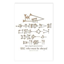 He Who Must Be Obeyed Postcards (Package of 8)