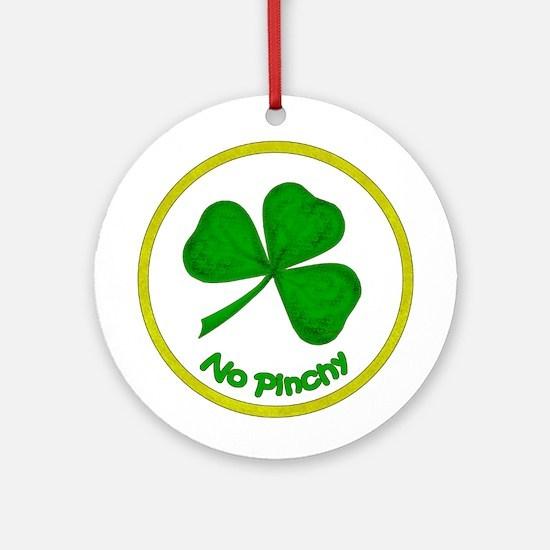 No Pinchy Ornament (Round)